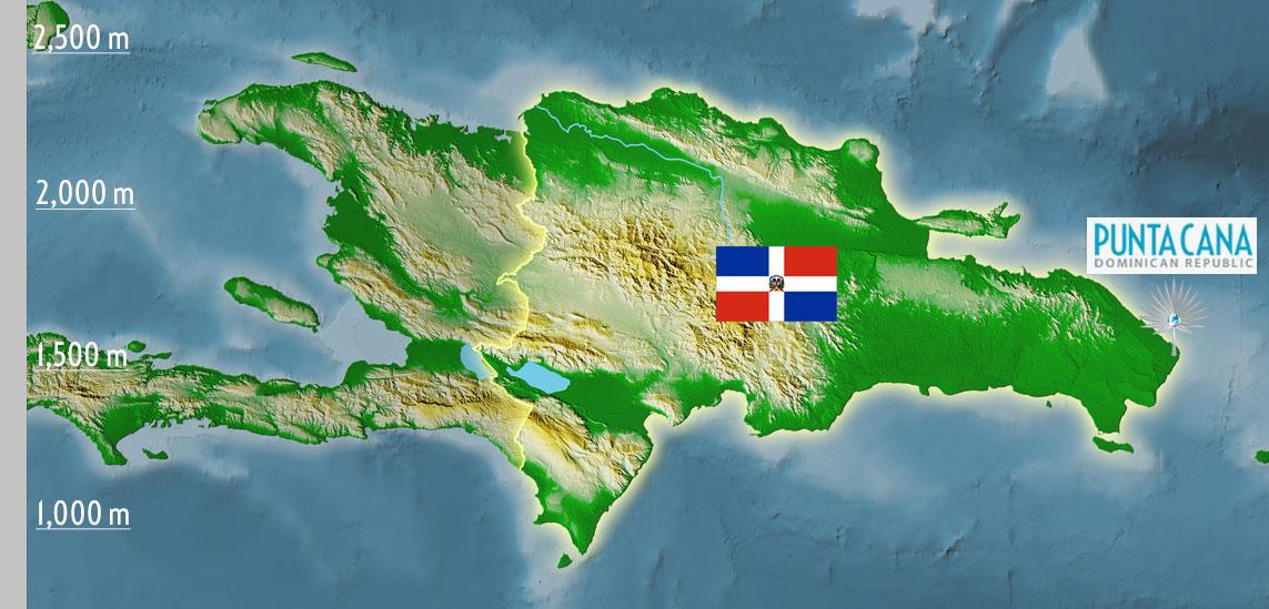 Punta Cana Dominican Republic Map - Caribbean