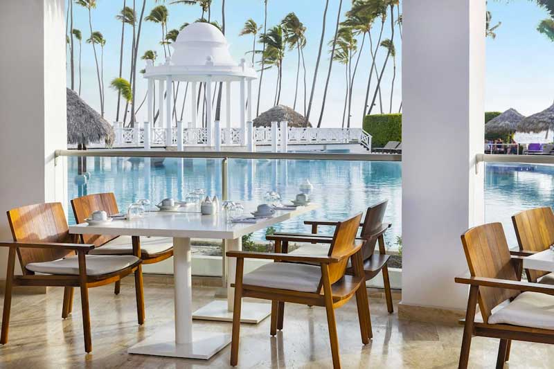Dining by the Pool - Paradisus Palma Real Golf & Spa Resort