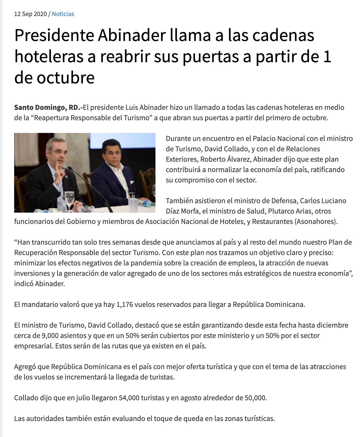 Covid-19 Tourism News - Punta Cana, Dominican Republic