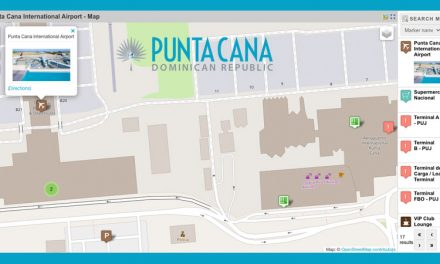 Punta Cana International Airport Map – Dominican Republic (PUJ) <BR><h3>Passenger Terminals, Car Rental Locations, ATMs, Transfer Services, Nearby Supermarkets and more…</h3>