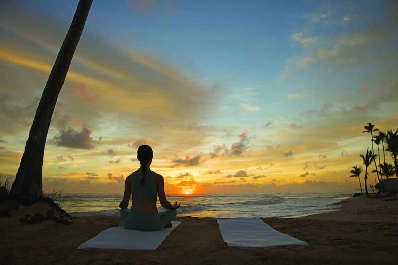 Beach Yoga - Nickelodeon Punta Cana - Uvero Alto Beach, Dominican Republic